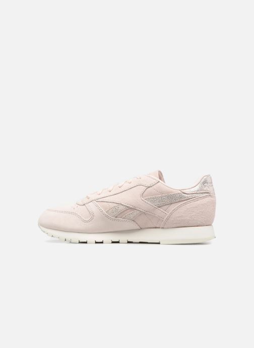 Trainers Reebok Classic Leather Shimmer Pink front view