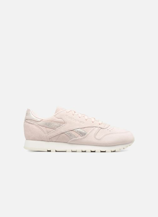 Trainers Reebok Classic Leather Shimmer Pink back view
