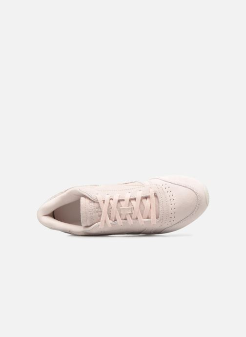 Trainers Reebok Classic Leather Shimmer Pink view from the left