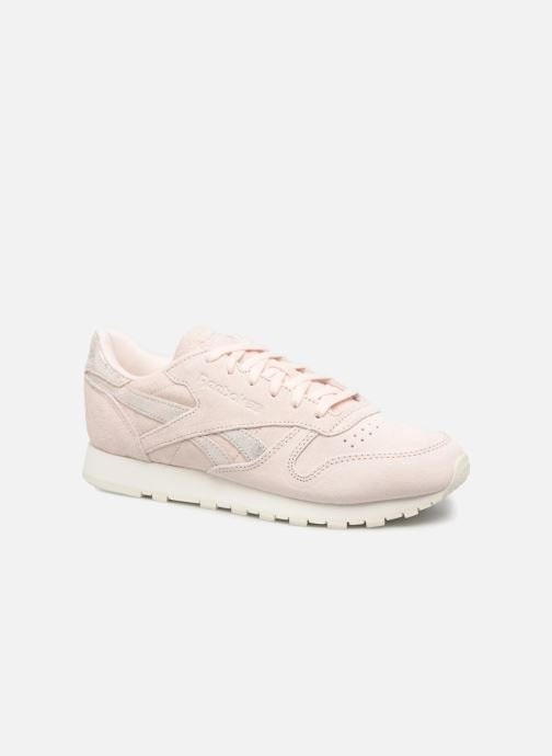 Trainers Reebok Classic Leather Shimmer Pink detailed view/ Pair view