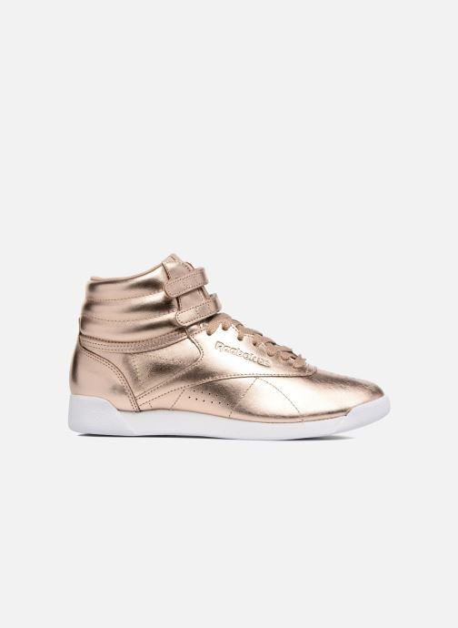 Baskets Reebok Freestyle Hi Metallic Or et bronze vue derrière