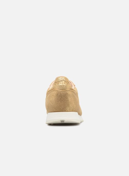 Deportivas Reebok ClassicLeather Shimmer Oro y bronce vista lateral derecha