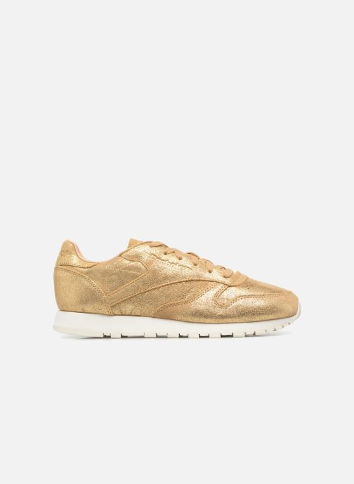 Deportivas Reebok ClassicLeather Shimmer Oro y bronce vistra trasera