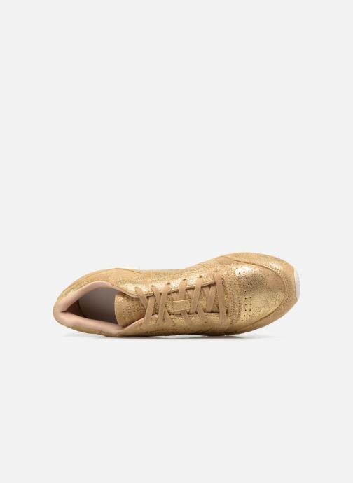 Baskets Reebok ClassicLeather Shimmer Or et bronze vue gauche