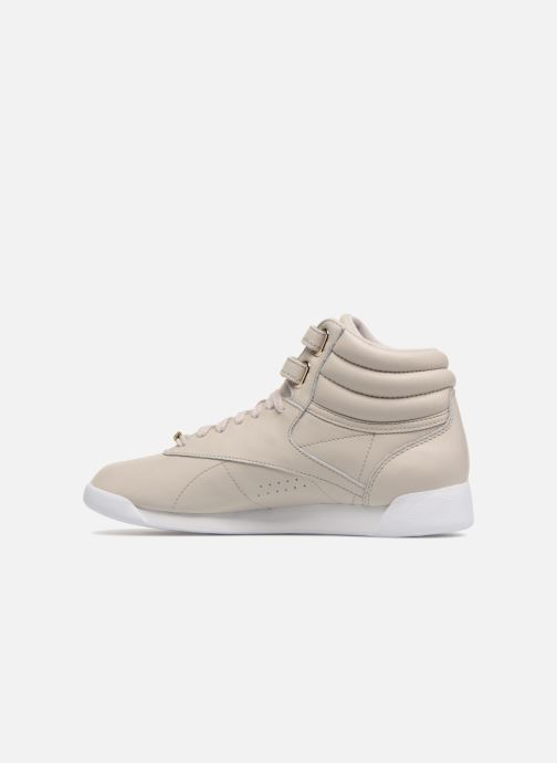 Trainers Reebok Freestyle Hi Muted Grey front view