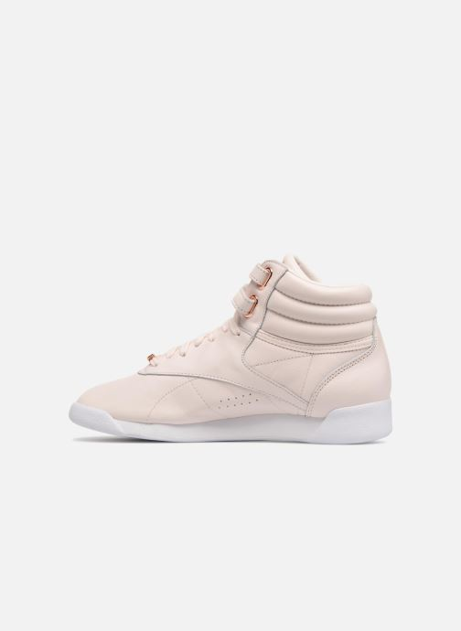 Baskets Reebok Freestyle Hi Muted Rose vue face