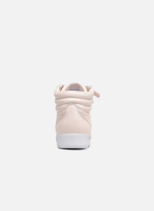 Baskets Reebok Freestyle Hi Muted Rose vue droite