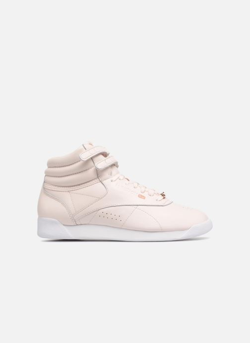 Baskets Reebok Freestyle Hi Muted Rose vue derrière
