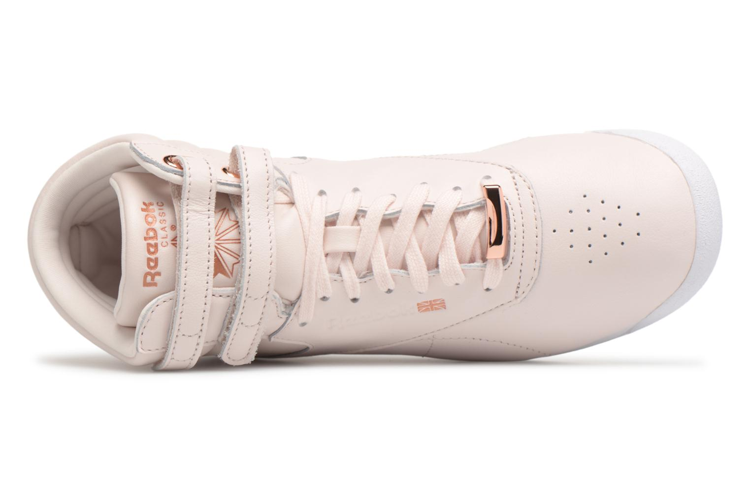 Baskets Reebok Freestyle Hi Muted Rose vue gauche