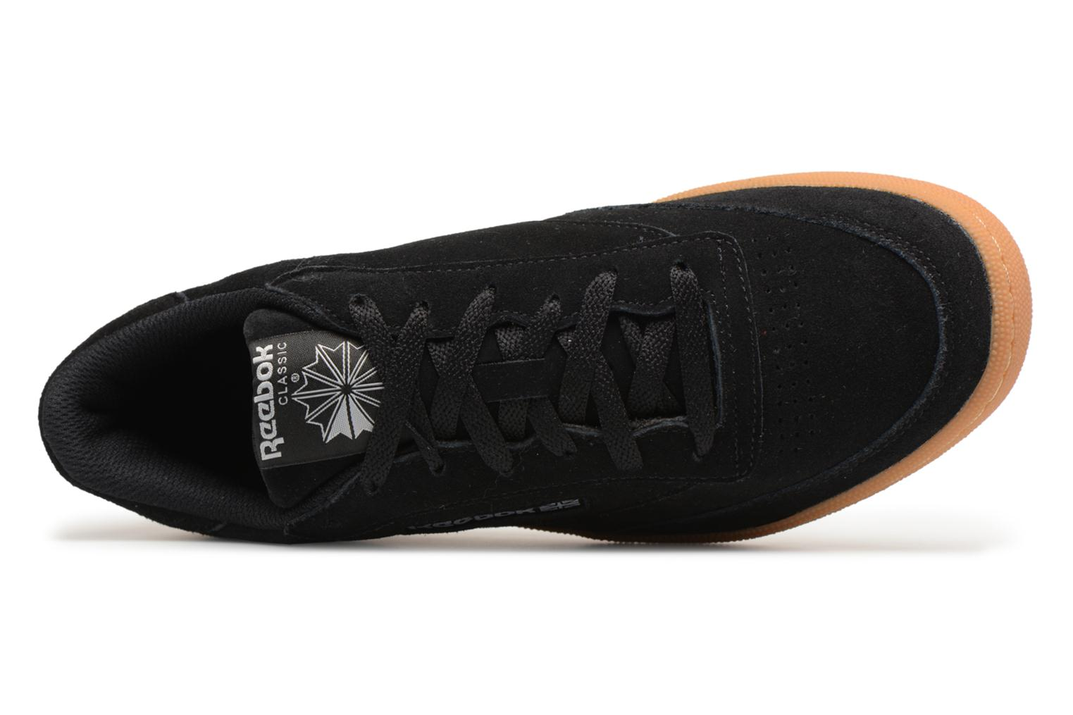 Trainers Reebok Club C 85 Gs Black view from the left
