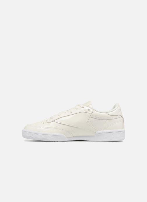 Sneakers Reebok Club C 85 Patent Wit voorkant