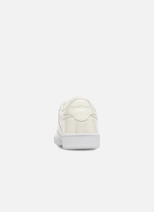 Sneakers Reebok Club C 85 Patent Wit rechts