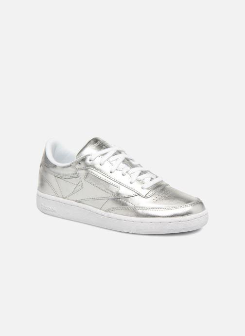 Reebok Club C 85 S SHINE Argent Sneaker Femmes Chaussures En Cuir Silver Neuf cm8686