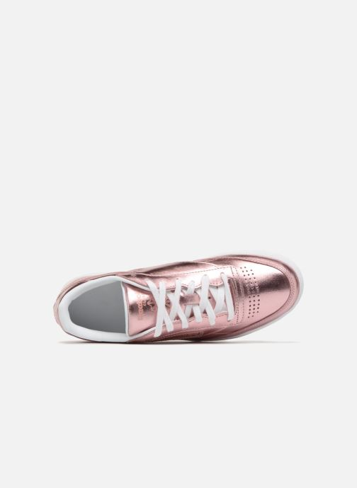 Trainers Reebok Club C 85 S Shine Pink view from the left