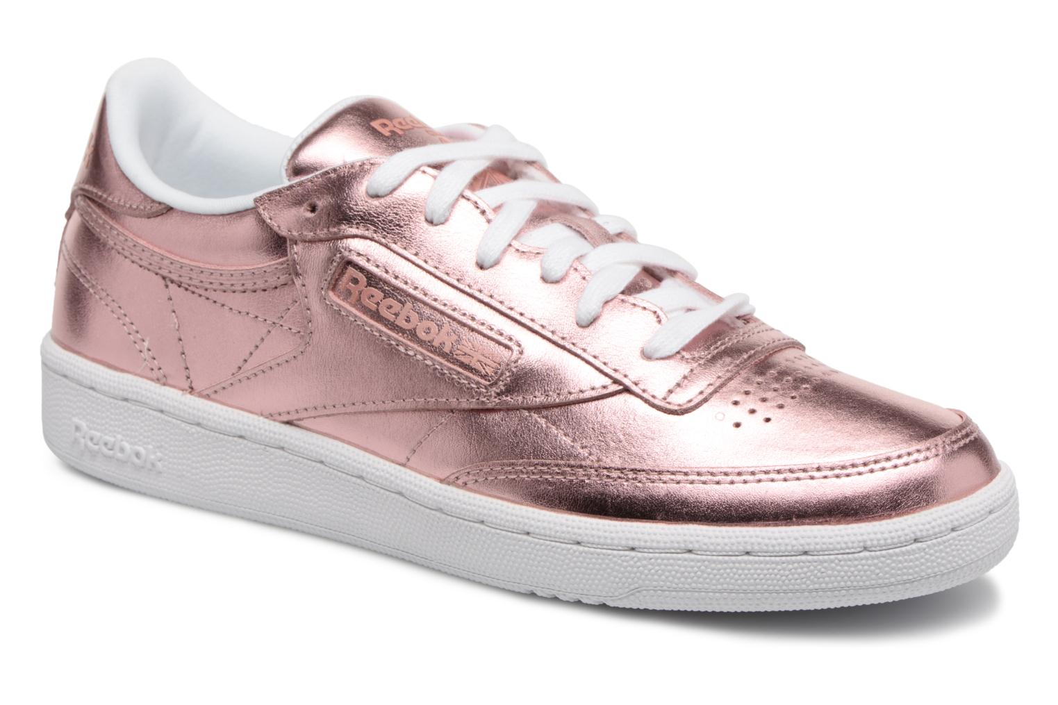 e915ac8198fb6 ... Trainers Reebok Club C 85 S Shine Pink detailed view Pair view ...