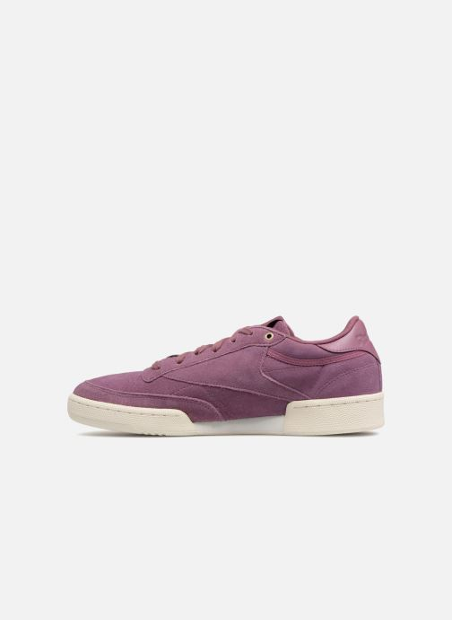 Trainers Reebok Club C 85 Montana Cans Collaboration Purple front view
