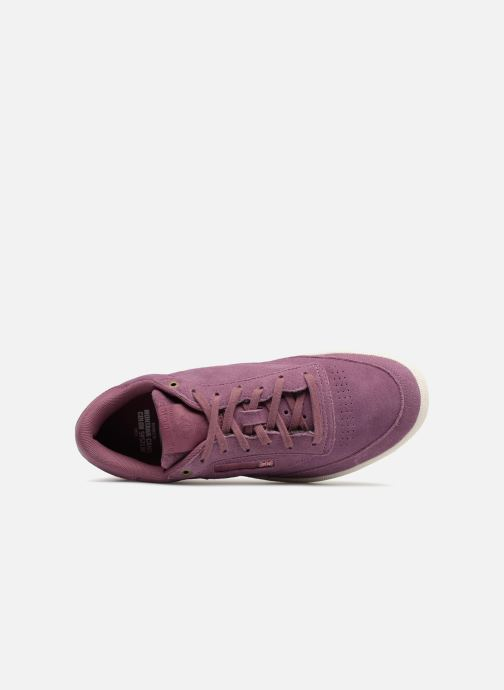 Trainers Reebok Club C 85 Montana Cans Collaboration Purple view from the left