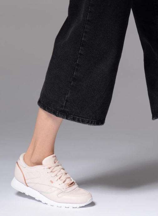 Sneaker Reebok ClassicLeather Hw rosa ansicht von unten / tasche getragen