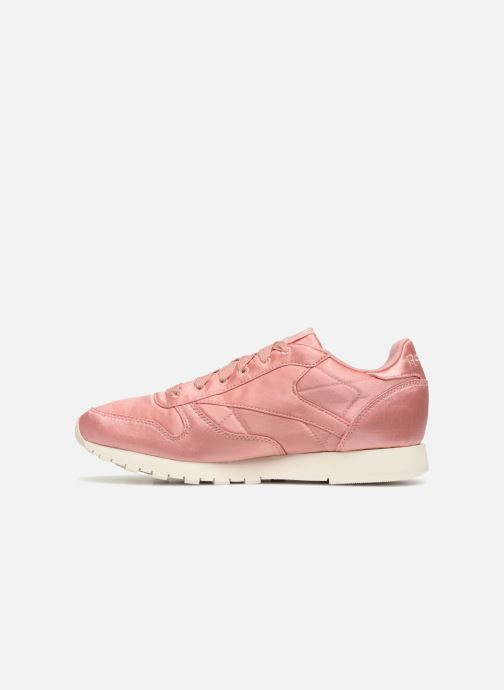 Trainers Reebok ClassicLeather Satin Pink front view