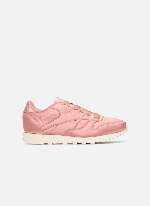 Trainers Reebok ClassicLeather Satin Pink back view
