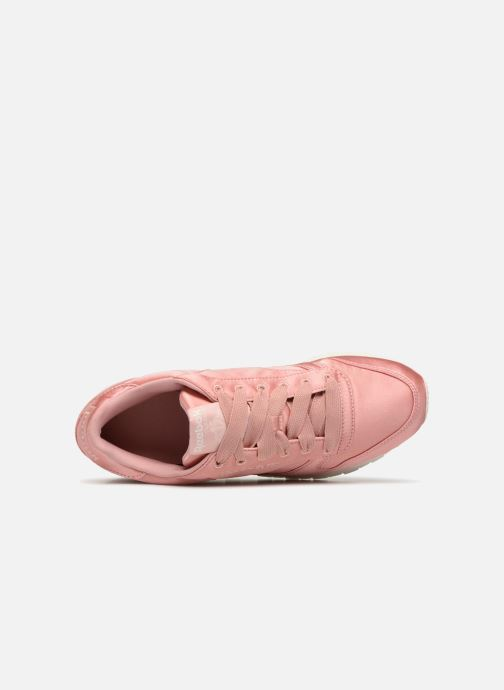 Trainers Reebok ClassicLeather Satin Pink view from the left