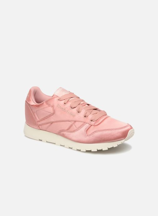 Trainers Reebok ClassicLeather Satin Pink detailed view/ Pair view