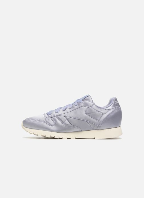 Baskets Reebok ClassicLeather Satin Violet vue face