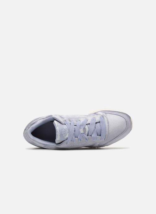 Baskets Reebok ClassicLeather Satin Violet vue gauche
