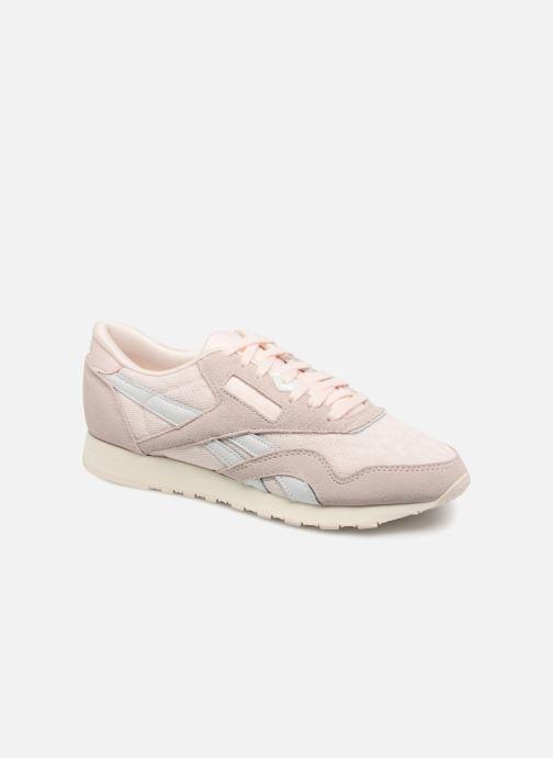 8b3a2fd84e2 Sneakers Reebok ClassicNylon Cold Pastel Pink detaljeret billede af skoene