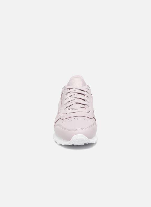 Baskets Reebok ClassicLeather Ps Pastel Violet vue portées chaussures