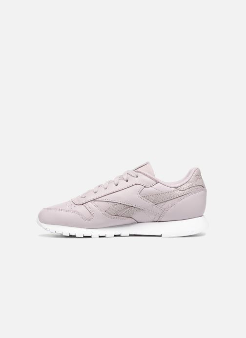 Trainers Reebok ClassicLeather Ps Pastel Purple front view