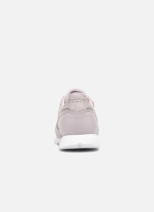 Baskets Reebok ClassicLeather Ps Pastel Violet vue droite