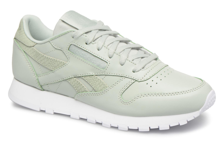 Reebok ClassicLeather Ps Pastel (Vert) - Baskets en Más cómodo Chaussures femme pas cher homme et femme