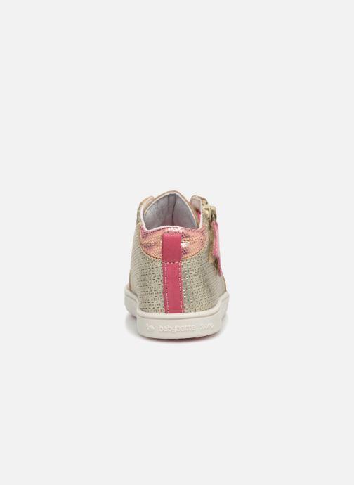 Baskets Babybotte Adrenalina Or et bronze vue droite