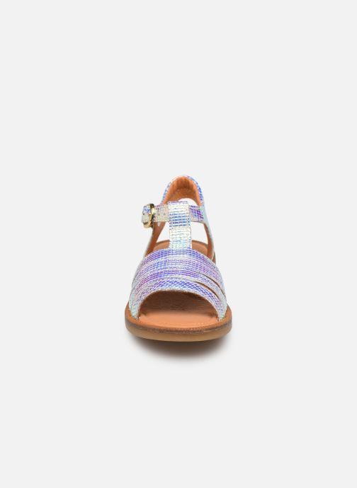 Sandalen Babybotte Tamara silber schuhe getragen