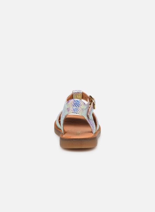 Sandalen Babybotte Tamara silber ansicht von rechts