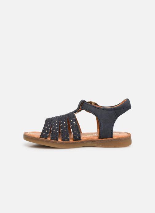 Sandales et nu-pieds Babybotte Tamara Bleu vue face