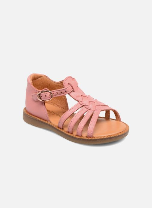 Sandals Babybotte Tourbillon Pink detailed view/ Pair view