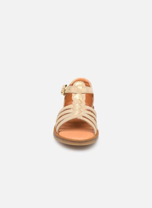 Sandales et nu-pieds Babybotte Tourbillon Or et bronze vue portées chaussures