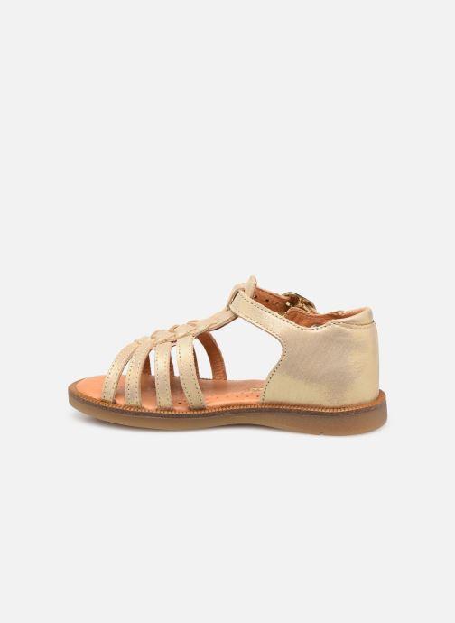 Sandales et nu-pieds Babybotte Tourbillon Or et bronze vue face
