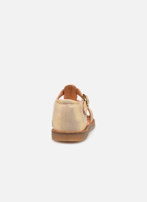 Sandales et nu-pieds Babybotte Tourbillon Or et bronze vue droite