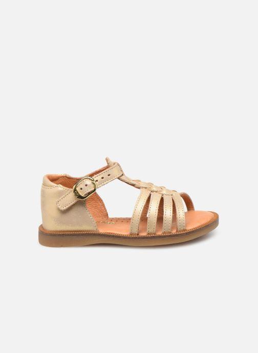 Sandales et nu-pieds Babybotte Tourbillon Or et bronze vue derrière
