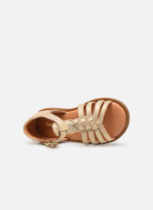 Sandales et nu-pieds Babybotte Tourbillon Or et bronze vue gauche