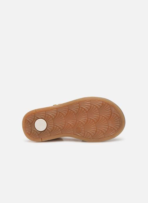 Sandales et nu-pieds Babybotte Tourbillon Or et bronze vue haut