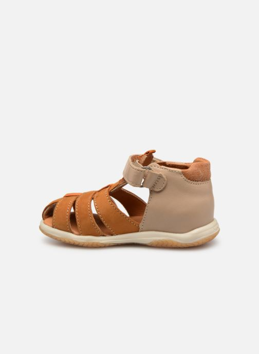 Sandals Babybotte Typo Brown front view