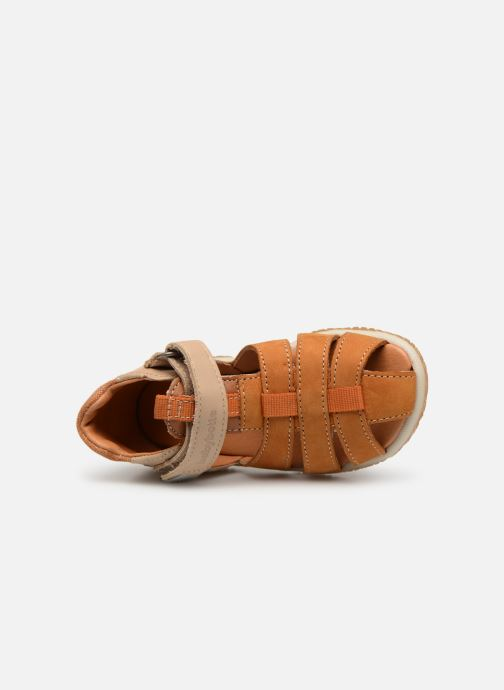 Sandals Babybotte Typo Brown view from the left