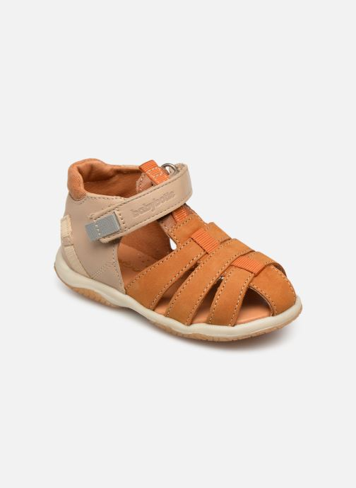 Sandals Babybotte Typo Brown detailed view/ Pair view
