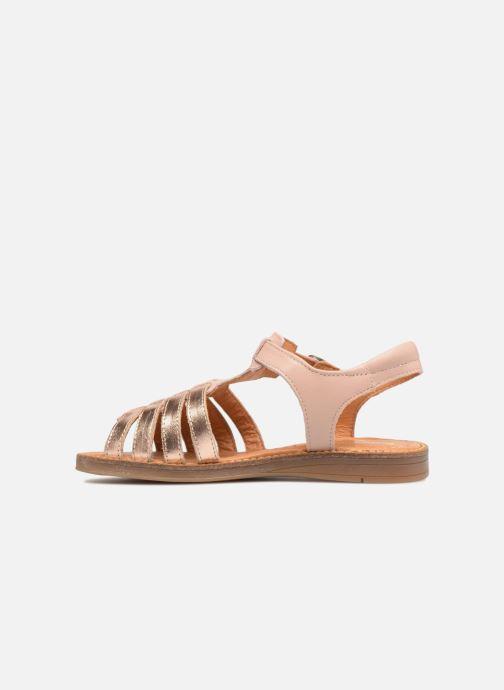 Sandales et nu-pieds Babybotte Krevette Rose vue face