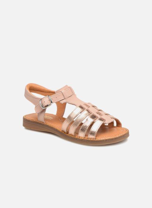 Sandales et nu-pieds Babybotte Krevette Rose vue détail/paire