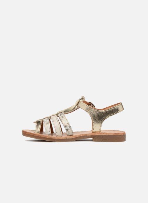 Sandales et nu-pieds Babybotte Ylona Or et bronze vue face